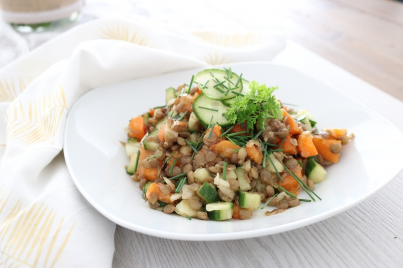 Linsen_Gurken_Marillen Salat (1)