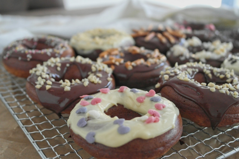 Gesunde Donuts aus dem Backrohr