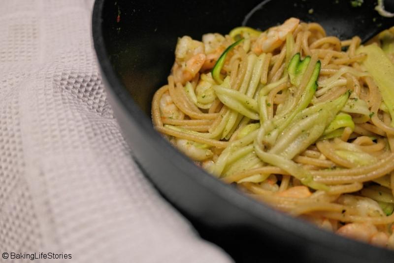 Zucchini-Garnelen Spaghetti