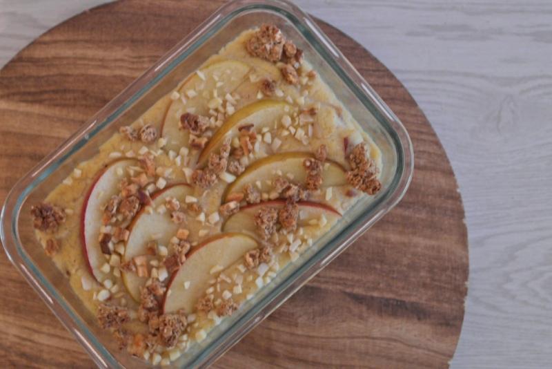Frühstückspolenta mit Apfel