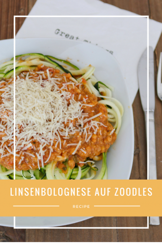 Linsenbolognese auf Zoodles