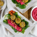 Blumenkohl, Kichererbsen, Rote-Bete, Hummus, Falafel, Feldsalat, Blattspinat, Dinner, Healthy Cuisine, Gesunde Küche