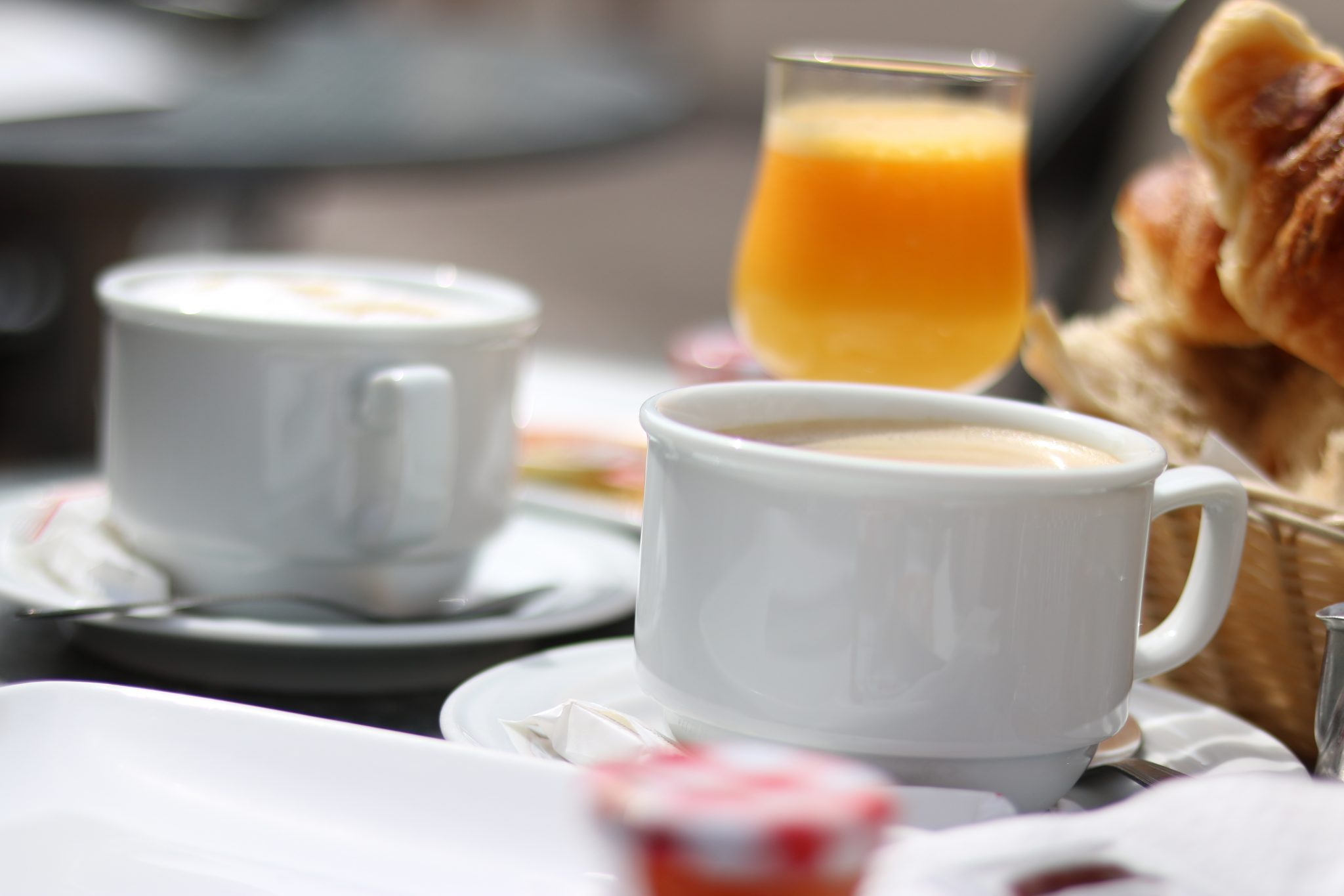 Colmar - Frühstück im Café