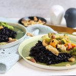 Runner's Food: Schwarzer Reis mit Gemüse-Frischkäse Pfanne
