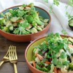Brokkolisalat mit Tahini-Dressing - Paleo - glutunfrei - laktosefrei - vegan
