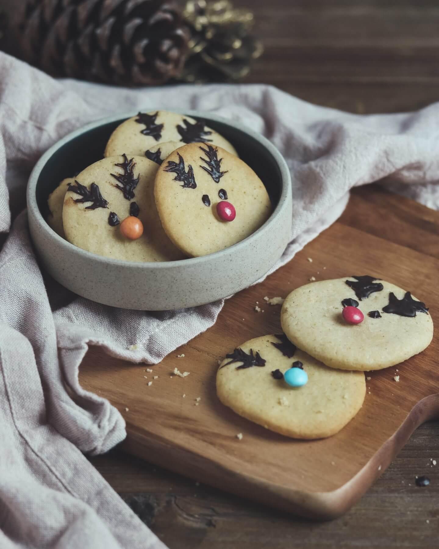 Vegane Weihnachtsplätzchen: Rentier-Cookies vegan