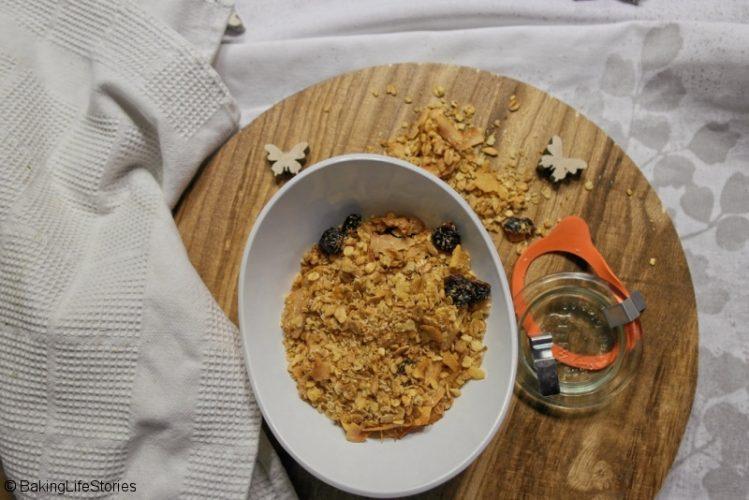 selbstgemachtes Kokos-Granola