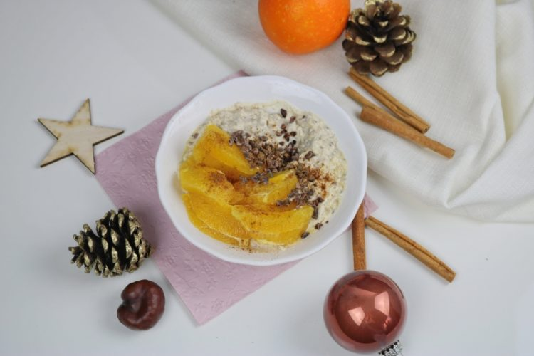 Winter Porridge – Zimtiges Porridge mit Orange und Maca*